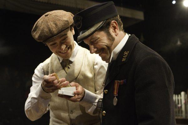 Harry Judge (Peter) and Craig Warnock (Mr. Perks)